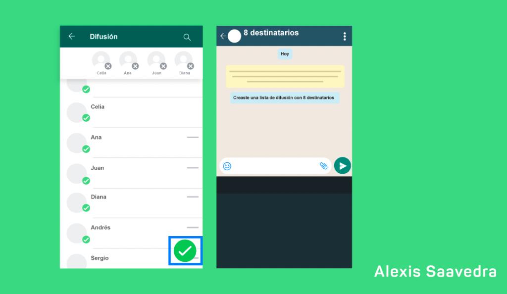 WhatsApp Business lista de difusion