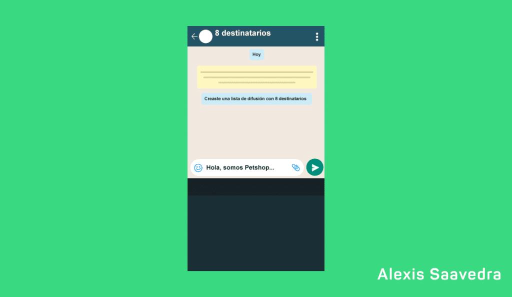 mensaje para lista de difusion WhatsApp Business